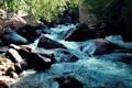 Картинка вода, пейзаж, природа, камни, поток, горная река