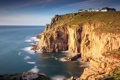 Картинка пейзаж, скалы, дома, море
