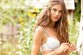 Картинка взгляд, модель, шатенка, Bianca Balti, растрёпанная