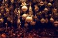 Картинка зима, шарики, игрушки, Новый Год, Рождество, Christmas, золотые