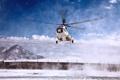 Картинка Облака, Белый, Вертолет, День, Авиация, Многоцелевой, Посадка