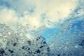 Картинка зима, снег, вода, мокрый, стекло