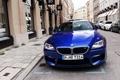 Картинка синий, город, бмв, купе, BMW, turbo, спорткар