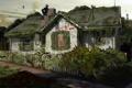 Картинка дом, пустош, америка, флаг