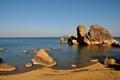 Картинка берег, the beautiful lake, Lake Malawi, скалы, озеро, Africa