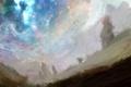 Картинка деревья, звёзды, арт, dreamworld