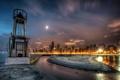 Картинка США, город, небо, фото, ночь, Чикаго, HDR