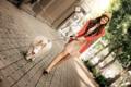 Картинка девушка, собака, прогулка