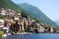Картинка горы, город, фото, дома, Италия, Como