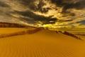 Картинка море, закат, дюны