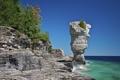 Картинка осень, Канада, скалы, Онтарио, озеро, море, деревья