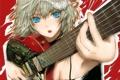 Картинка девушка, рисунок, гитара, арт, touhou, izayoi sakuya, fuyuno haruaki