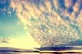 Картинка закат, облака, небо, природа, озеро, гладь