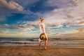 Картинка пляж, девушка, обработка