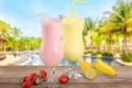 Картинка tropical, summer, море, sea, коктейль, drink, пляж