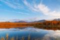 Картинка небо, деревья, горы, природа, водоем