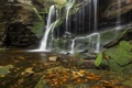Картинка осень, природа, камни, водопад