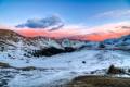Картинка снег, закат, горы