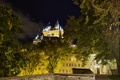 Картинка ночь, огни, дома, Канада, Квебек, замок Фронтенак