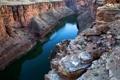 Картинка река, камни, обрыв, каньон, ущелье