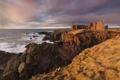 Картинка море, пейзаж, замок, скалы, руины