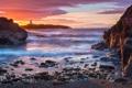 Картинка Sunrise, Sea, Elie Lighthouse