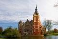 Картинка город, фото, Германия, Бад-Мускау, князя Пюклера, Дворец Мускау