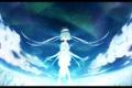 Картинка небо, звезды, облака, ночь, сияние, девушки, шляпа