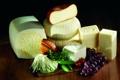 Картинка сыр, виноград, помидоры, огурцы, гроздб