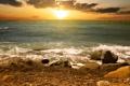 Картинка море, солнце, волна, горизонт, прибой