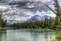 Картинка лес, горы, озеро, Канада, Альберта, Banff National Park, Alberta