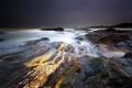 Картинка шторм, океан, скалы, побережье