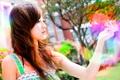 Картинка цветок, девушка, брюнетка, girl, азиатка, Asian, wallpapers