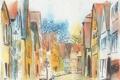 Картинка город, фон, картина