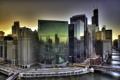 Картинка вода, закат, город, Чикаго, Небоскребы, США, Америка