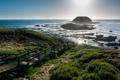 Картинка камни, океан, побережье, спуск, горизонт, Австралия, лестница