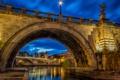 Картинка город, вечер, освещение, Рим, фонари, архитектура, Italy