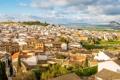 Картинка небо, пейзаж, дома, холм, Испания, Малага, Антекера