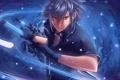 Картинка оружие, арт, парень, XIII, Noctis Lucis Caelum, Final Fantasy Versus