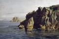 Картинка пейзаж, картина, Карлос де Хаэс, Скалы Санта Каталина