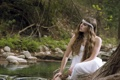 Картинка девушка, природа, река, Nilda