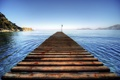 Картинка пейзаж, мост, море, лето