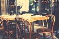 Картинка стол, улица, стулья, боке