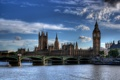 Картинка небо, мост, город, река, HDR, Великобритания, London