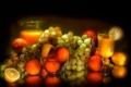 Картинка свечение, апельсины, сок, виноград, лимоны