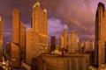 Картинка город, дома, утро, Чикаго, Chicago, usa