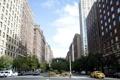 Картинка небо, машины, город, движение, улица, небоскребы, USA