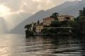 Картинка горы, озеро, вилла, Италия, Комо
