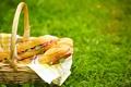 Картинка трава, природа, корзина, поляна, пикник, боке, бутерброды
