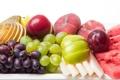 Картинка яблоко, арбуз, виноград, груша, фрукты, персик, дыня